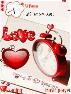 Love Clock Mobile Theme