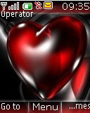 Glass Heart Mobile Theme