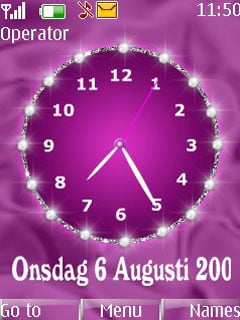 Pink Clock Mobile Theme