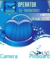 Love N Blue Mobile Theme