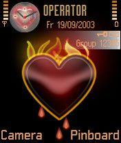 Flaming Heart Mobile Theme