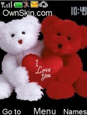 Red N White Love Mobile Theme