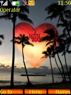 Sun Heart Love Mobile Theme