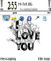 I Love You Mobile Theme