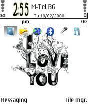 I Love You Mobile Theme