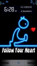 Follw Your Heart Mobile Theme