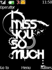Miss You So Much Mobile Theme