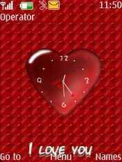 Heart Clock Nokia Theme Mobile Theme