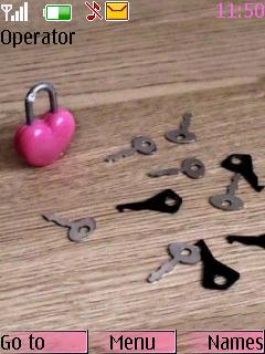 Heart Keys Nokia Theme Mobile Theme