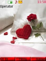 Heart Rose Nokia Theme Mobile Theme