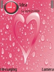Rain On Heart Nokia Theme Mobile Theme