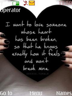 Broken Love Nokia Theme Mobile Theme