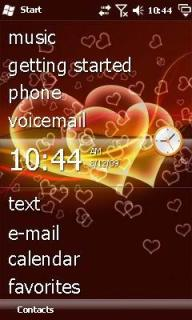 Love Heart Theme Mobile Theme