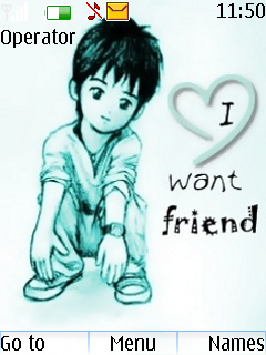 I Want Friend Love Theme Mobile Theme