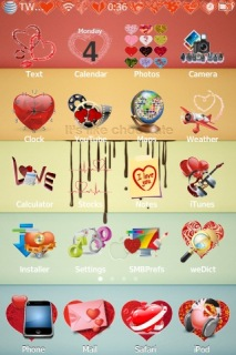 Valentine Red Heart Theme Mobile Theme