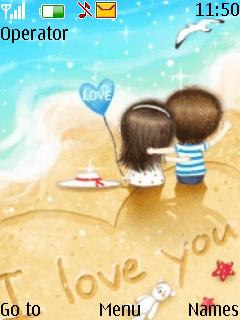 I Love You Theme Mobile Theme