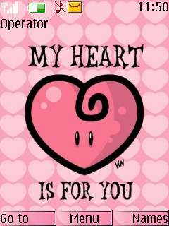 My Heart Is For You Mobile Theme