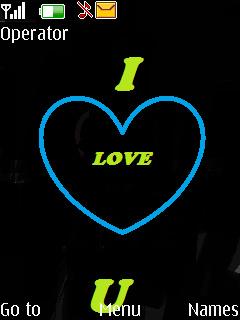I Love You Neon Theme Mobile Theme