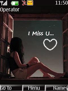 I Miss You Theme Mobile Theme