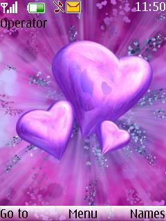 Pink Heart Theme Mobile Theme