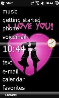 Two Hearts Theme Mobile Theme