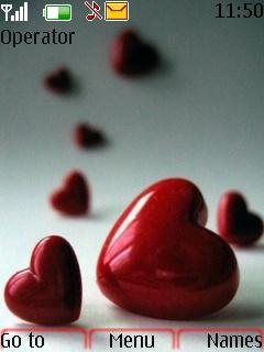 Hearts Nokia Sweet Love Theme Mobile Theme