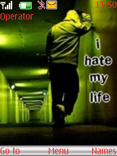I Hate Life Theme Mobile Theme