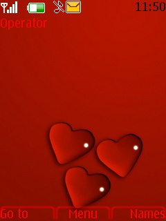 3 Red Heart Theme Mobile Theme