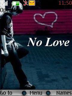 No Love Theme Mobile Theme