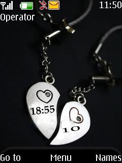 Heart Clock Theme Mobile Theme