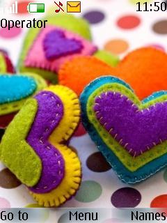 Colourful Heart Theme Mobile Theme