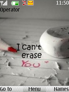 I Cant Erase You Mobile Theme