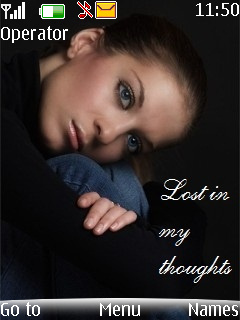Lost In My Thoughts  Mobile Theme