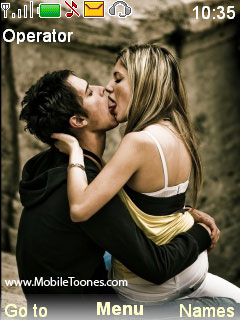 Hot Couples Kiss Mobile Theme