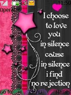 Love In Silence Mobile Theme