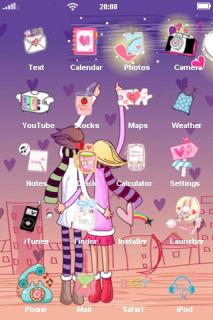 Love Stars IPhone Theme Mobile Theme