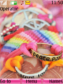 Peace And Love Mobile Theme
