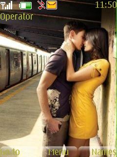 Love Kiss Mobile Theme