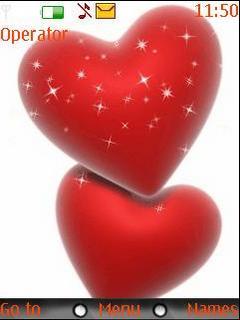Lovely Heart Mobile Theme
