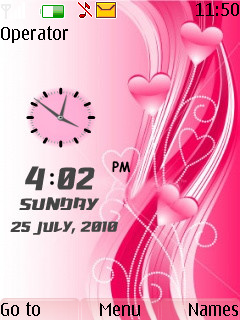 Love Dual Clock Theme Mobile Theme