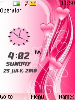 Love Dual Clock Theme Mobile Theme