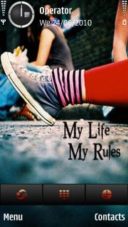 My Life My Rules Mobile Theme