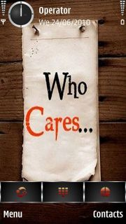 Who Cares Mobile Theme
