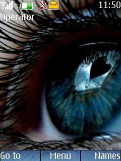 Inside Eye Heart Mobile Theme