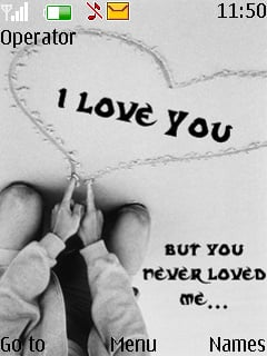 You Never Loved Me Mobile Theme