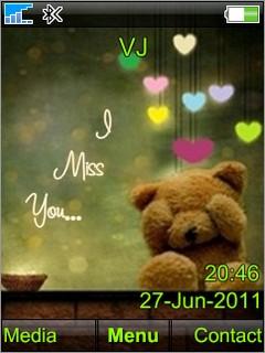 I Miss U Mobile Theme