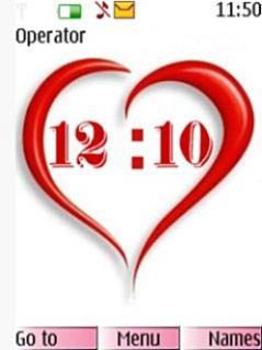 Heart Clock Mobile Theme