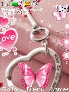 Animated Key Love Mobile Theme