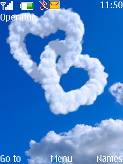 Clouds Heart Mobile Theme