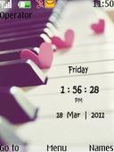 Piano Love Clock Mobile Theme